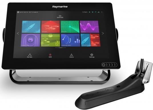 Ein leistungsfähiges neues Multifunktions-Navigationssystem von Raymarine. Mit dem neuen LightHouse 3 Betriebssystem und der glänzenden schnellen Quad-Core-Performance, wird Axiom Ihre Zeit auf das Wasser verändern. (Bild 2 von 10)