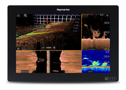 A powerful new multifunction navigation system from Raymarine. With the all new LightHouse 3 operating system and blazing fast quad core performance, Axiom will transform your time on the water. (Image 7 of 11)