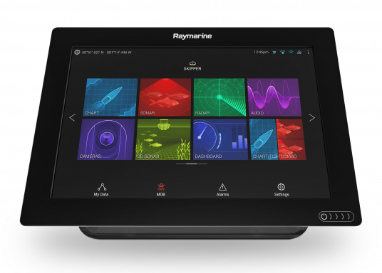 A powerful new multifunction navigation system from Raymarine. With the all new LightHouse 3 operating system and blazing fast quad core performance, Axiom will transform your time on the water. (Image 5 of 11)