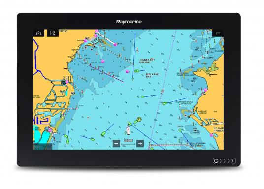 Ein leistungsfähiges neues Multifunktions-Navigationssystem von Raymarine. Mit dem neuen LightHouse 3 Betriebssystem und der glänzenden schnellen Quad-Core-Performance, wird Axiom Ihre Zeit auf das Wasser verändern. Im Lieferumfang ist eine Navionics+ Download Seekarte enthalten. (Bild 9 von 14)