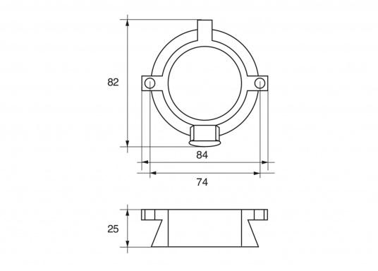 Passende Anoden für Mercruiser-Antriebe der Serie ALPHA ONE Gen. II. Erhältlich in Zink, Aluminium und Magnesium. Original Teilenummer: 806105Q1. (Bild 2 von 2)