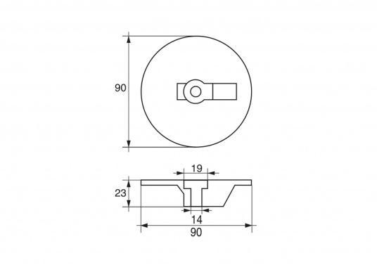 Passende Anoden für Mercruiser-Antriebe der Serie BRAVO 3. Erhältlich in Zink, Aluminium und Magnesium. Original Teilenummer: 76214-4. (Bild 4 von 4)