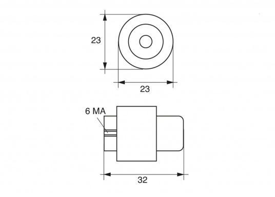 Motor-Zinkanode für 4-Takt Motoren der Serie Mercruiser von Mercury. Passend für 90 PS. Original Teilenummer: 804079002. (Bild 2 von 2)
