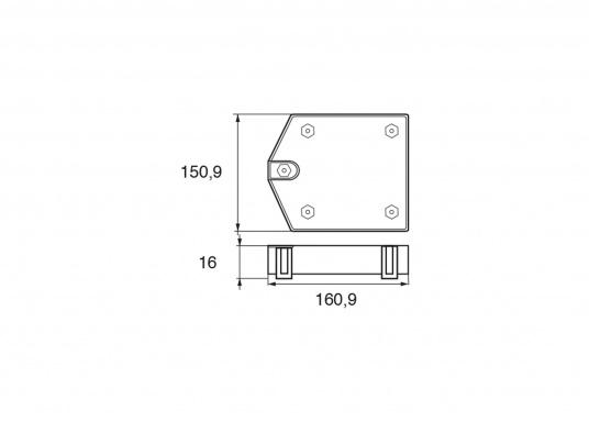 Passende Aluminiumanode für Zeus Antriebe von Mercruiser. Original Teilenummer: 87915QA65. (Bild 2 von 2)