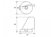 Anodo di zinco per motore F-SE-4 / a pinna