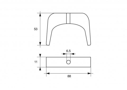 Passende Motor-Zinkanode für SELVA-Motoren mit 100 PS. Original Teilenummer: 2504025. (Bild 2 von 2)