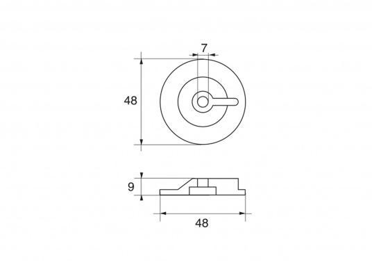 Passende Zinkanode für SUZUKI Außenbordmotoren mit 9,9 - 15 PS. Original Suzuki Teilenummer: 55321-93900. (Bild 2 von 2)