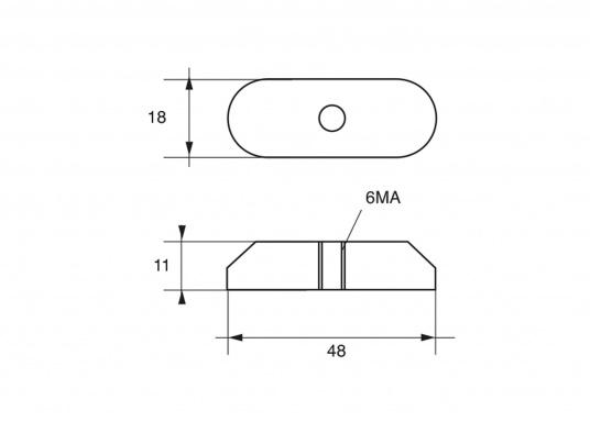 Passende Zinkanode für SUZUKI Außenbordmotoren. Original Teilenummer: 41811-98500. (Bild 2 von 2)