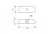 Zinc Anode for Suzuki Outboard DF 9.9 &15 / DT 6
