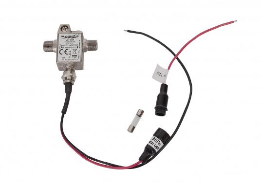 Klein aber fein! Omnidirektionale, aktive DVB-T-Antenne im außergewöhnlichen und kompakten Design. Der integrierte, rauscharme Verstärker verhilft zu satten 23,5 dB Gewinn und sorgt für exzellenten Empfang auf Booten und Fahrzeugen aller Art. Kann auch als Indoor-Antenne verwendet werden. (Bild 6 von 6)
