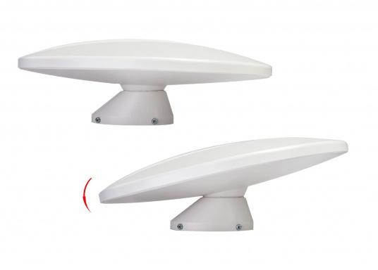 Omnidirektionale DVB-T-Antenne im kompakten Design mit geringem Gewicht. Der integrierte, rauscharme Verstärker verhilft zu satten 24,5 dB Gewinn und sorgt für exzellenten Empfang auf Booten und Fahrzeugen aller Art. Kann auch als Indoor-Antenne verwendet werden.