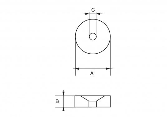 Passende Anode für TOHATSU Außenborder. Erhältlich in unterschiedlichen Größen und in Zink oder Aluminium. (Bild 3 von 7)
