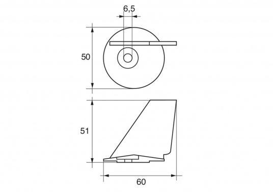 Passende Zinkanode für TOHATSU Außenborder. Original Tohatsu Teilenummer: 348-60217-0. (Bild 2 von 2)