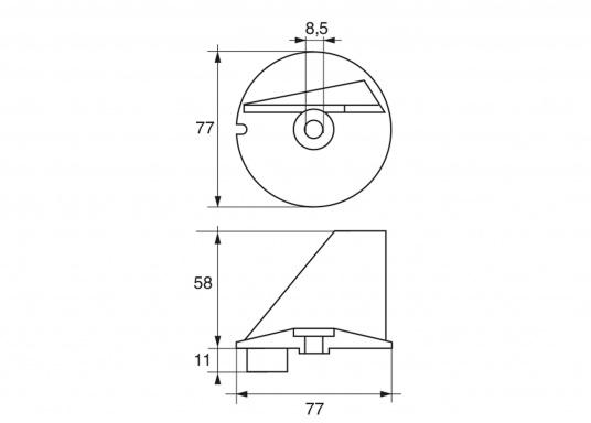 Passende Zinkanode für TOHATSU Außenborder. Original Teilenummer: 3B7-60217-0. (Bild 2 von 2)