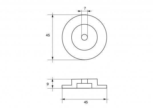Passende Zinkanode für TOHATSU Außenborder mit 40 - 140 PS. Original Teilenummer: 3M2-60218-1. (Bild 2 von 2)
