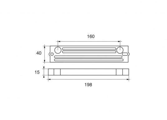 Passende Anode für TOHATSU Außenborder mit 40 und 140 PS. Erhältlich in Zink, Aluminium und Magnesium. Original Teilenummer: 3C7-60218-1. (Bild 2 von 2)