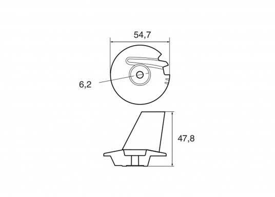 Passende Anode für TOHATSU Außenborder8 - 20 PS 4-Takter.Erhältlich in Zink, Aluminium und Magnesium. Original Teilenummer: 3V1602170. (Bild 2 von 2)