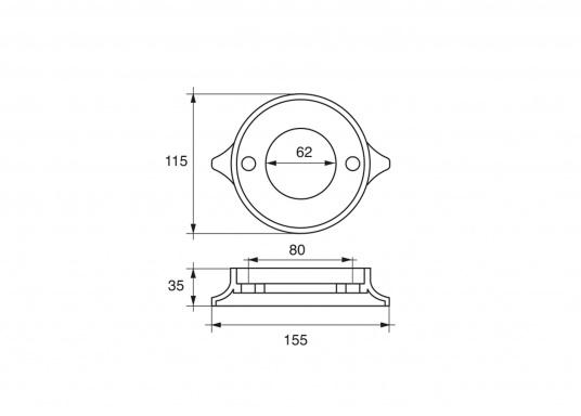 Passende Anode für Volvo Penta Z-Antrieb. Erhältlich in Zink, Aluminium und Magnesium. Original Teilenummer: 875815. (Bild 4 von 4)
