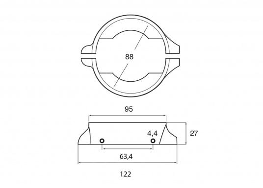 Passende Ring-Anoden für VOLVO PENTA Saildrive 120S. Erhältlich in Zink, Aluminium und Magnesium. Original Teilenummer: 851983. (Bild 7 von 7)