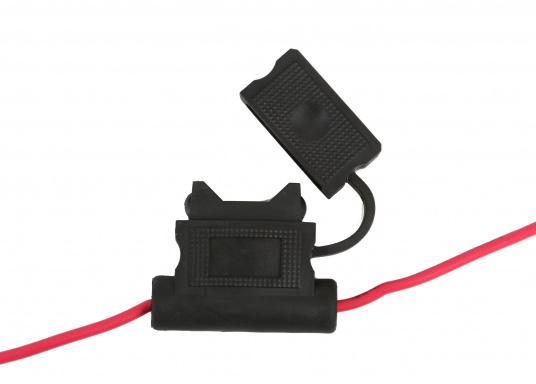 Das LOWRANCE Strom- / Datenkabel PC-30-RS422 eignet sich für die ELITE TI, HOOK und HDS Gen 2 Serien. Außerdem dient es zur Integration in ein NMEA0183-Netzwerk. (Bild 4 von 5)
