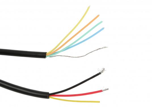 Das LOWRANCE Strom- / Datenkabel PC-30-RS422 eignet sich für die ELITE TI, HOOK und HDS Gen 2 Serien. Außerdem dient es zur Integration in ein NMEA0183-Netzwerk. (Bild 3 von 5)