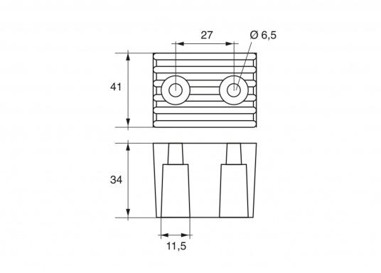 Passende Motor-Anoden für VOLVO PENTA-Motoren der Serie DPX. Erhältlich in Zink, Aluminium und Magnesium. Original Teilenummer: 873395. (Bild 4 von 4)