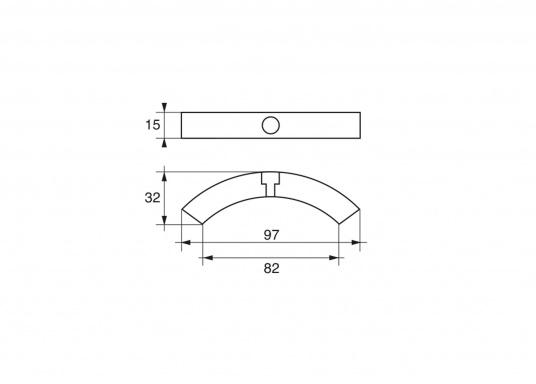 Passende Zinkanode für VOLVO PENTA mit einem 4-Blatt Propeller. Der Ring besteht aus drei einzelnen Teilen. Original Teilenummer: 3584442. (Bild 2 von 2)