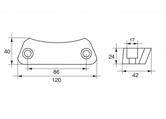 Passende Anoden für VOLVO PENTA Z-Antriebe der Serie DPH und DPR. Erhältlich in Zink, Aluminium und Magnesium. Original Teilenummer: 3588745. (Bild 2 von 2)
