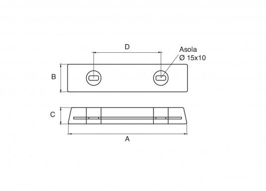 Passende Aluminiumanode für VOLVO PENTA IPS. Erhältlich in zwei unterschiedlichen Größen. (Bild 2 von 2)