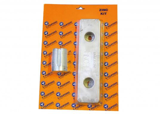 Zink Anoden - Set für Volvo Penta Antriebe der Serie IPS. Das Set beinhaltet die Bestandteile: VP028 und VP027.