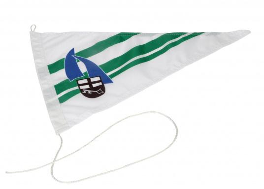 Vereinsstander, dreieckige Ausführung, desSegel- und Wassersport Clubs Brilon.Abmessungen: ca. 40 x 25 cm.