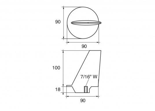 Passende Zinkanode für Yamaha- und Mariner Außenborder mit 80 und 140 PS. (Bild 2 von 2)