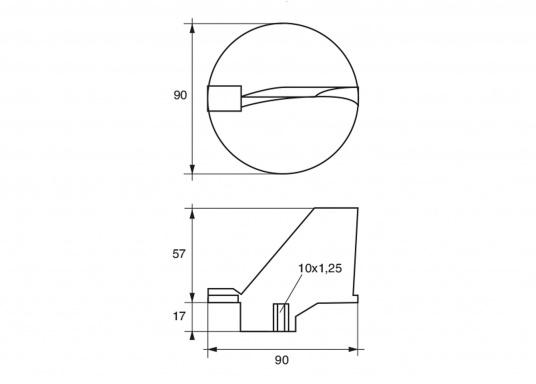 Passende Anode für Yamaha - und Mariner Außenborder mit 115 und 225 PS. Erhältlich in Zink, Aluminium und Magnesium. Original Teilenummer: 6E5-45371-01. (Bild 2 von 2)