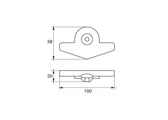 Passende Zinkanode für die Yamaha und Mariner Außenborder mit 9,9 - 15 PS. Original Teilenummer: 6E8-45251. (Bild 2 von 2)
