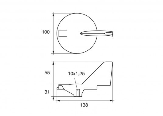Motor anode for Yamaha and Mariner 220 HP motors. Available in zinc, magnesium and aluminium. Part #6J9-45371-02. (Image 2 of 2)