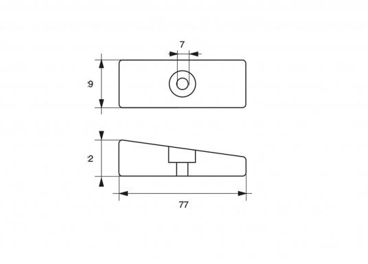 Passende Anode für die Yamaha - und Mariner Außenborder mit 75 PS XR6. Erhältlich in Zink, Aluminium und Magnesium. Original Teilenummer: 866C34Q. (Bild 3 von 3)