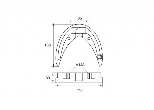 Passende Zinkanode für Yamaha Sterndrive/ Inter Drive. Original Teilenummer: 6T5-45373-00-00. (Bild 2 von 2)