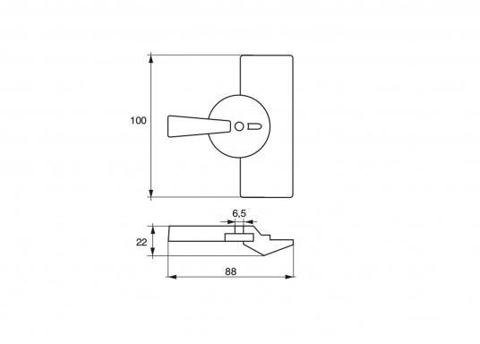 Passende Zinkanode für Yamaha - und Mariner Außenborder mit 9,9 PS. Original Teilenummer: 6G8-45251-01. (Bild 2 von 2)
