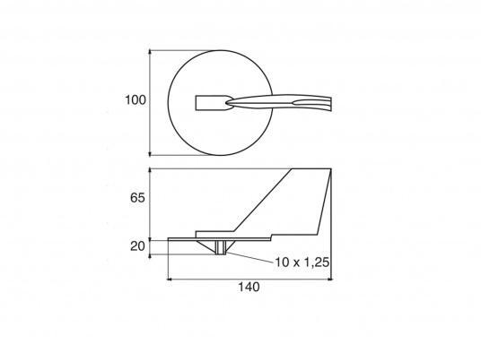 Passende Zinkanode für 2- und 4-Takt Außenborder von Yamaha und Mariner mit 150 - 225 PS. Original Teilenummer: 6J9-45371-00. (Bild 2 von 2)