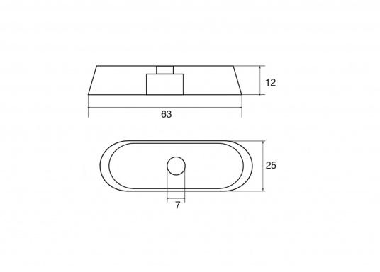 Passende Anode für Yamaha und Mariner Außenborder. Erhältlich in Zink und Aluminium. Original Teilenummer: 68T4525100. (Bild 2 von 2)