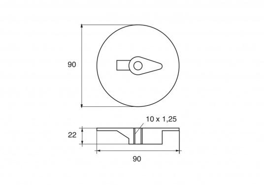 Passende Zinkanode für Yamaha und Mariner Außenborder mit 60 und 225 PS. Original Teilenummer: 6E5-45371-10. (Bild 2 von 2)