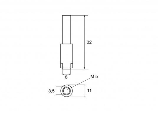 Passende Zinkanode für Yamaha und Mariner Außenborder F9,9C/D/FT und F15A. Original Teilenummer: 66M-11325-00. (Bild 3 von 3)