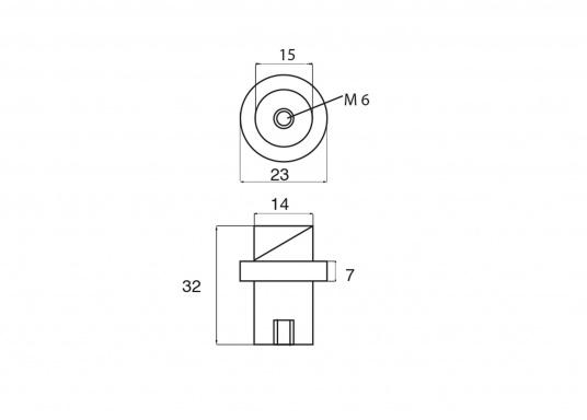Zinc anode for Yamaha and Mariner motors. Part #67F-11325-01. (Image 2 of 2)