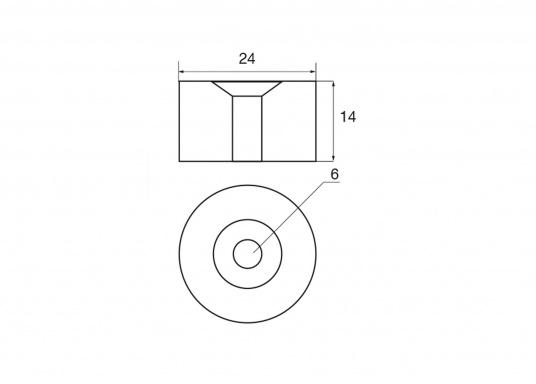 Zinc anode for Yamaha and Mariner motors. Part #663-45251-00. (Image 2 of 2)