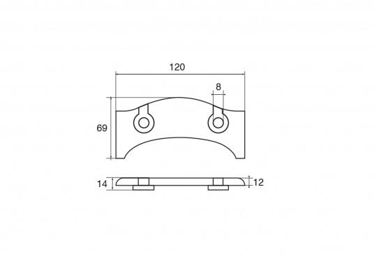 Passende Zinkanode für Z-Antrieb von Yamaha und Mariner. Original Teilenummer: 6U4-45373-00. (Bild 2 von 2)