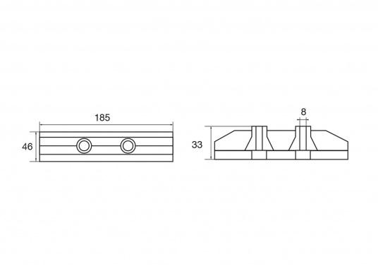 Passende Zinkanode für Z-Antrieb von Yamaha und Mariner. Original Teilenummer: 6AW-45619-00. (Bild 2 von 2)