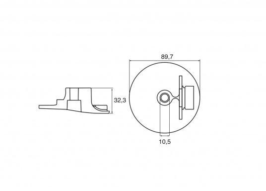 Passende Anoden für Yamaha und Mariner Außenborder. Erhältlich in Zink, Aluminium und Magnesium. Original Teilenummer: 6AW-45619-00. (Bild 2 von 2)