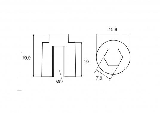 Passende Zinkanode für Yamaha und Mariner Außenborder. Original Teilenummer: 6AW-1132R-00. (Bild 2 von 2)