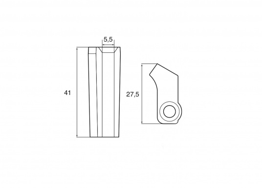 Passende Zinkanode für Yamaha und Mariner Außenborder. Original Teilenummer: 6AW-1132U-00. (Bild 2 von 2)