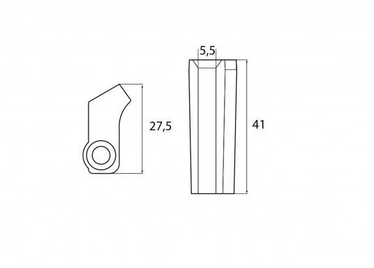 Passende Zinkanode für Yamaha und Mariner Außenborder. Original Teilenummer: 6AW-1132T-00. (Bild 2 von 2)